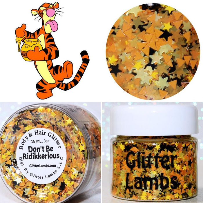 "Glitter Lambs ""Don't Be Ridikkerious"" Tigger Body Glitter by GlitterLambs.com"