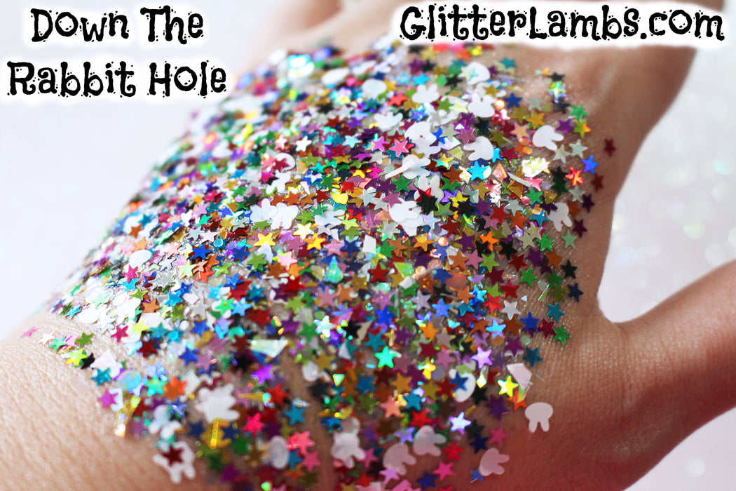 Down The Rabbit Hole Body Glitter Down The Rabbit Hole Hair Glitter For Festival Body Glitter Wonderland GlitterLambs.com
