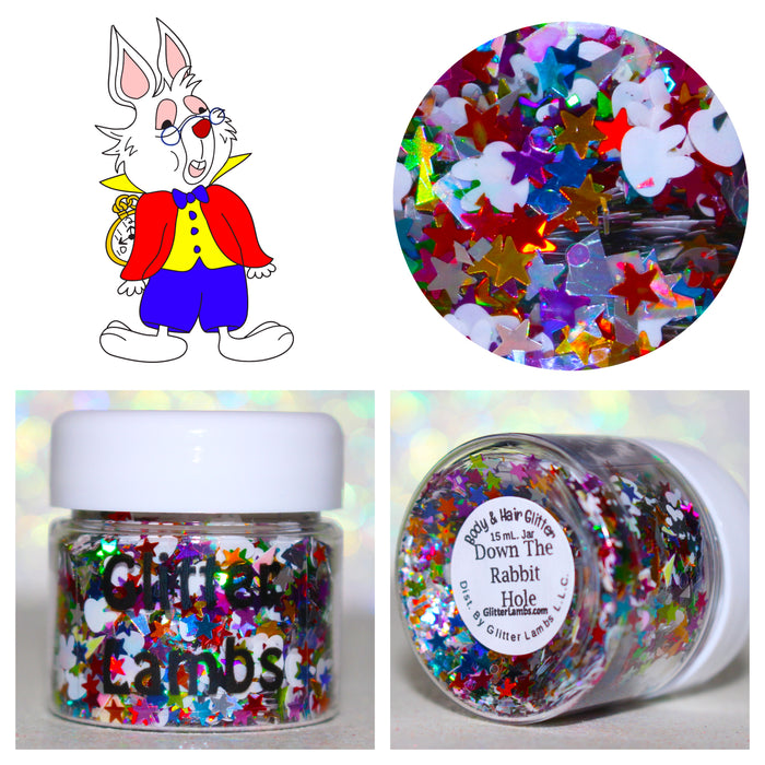 Down The Rabbit Hole Glitter. Jar is 15 mL. Great for crafts, nails, resin, body, hair, etc by GlitterLambs.com