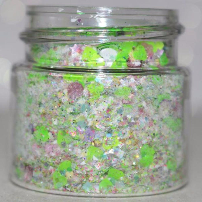 Elves And Frosted Christmas Fairies Christmas Chunky Body Glitter Loose Face Chunky Body Glitter Christmas GlitterLambs.com #bodyglitter #christmasbodyglitter #glitter