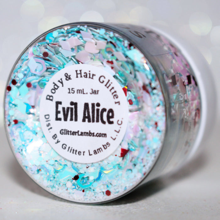Evil Alice Glitter. Great for crafts, nails, resin, body, hair, etc. by GlitterLambs.com
