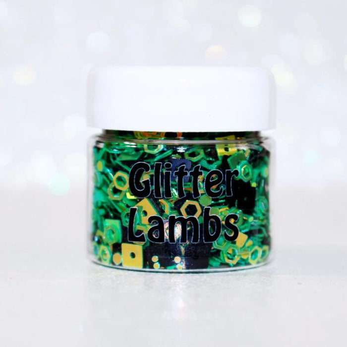 Frankenstein Glitter for crafts, nails, resin, etc. by Glitter Lambs GlitterLambs.com Halloween Glitter