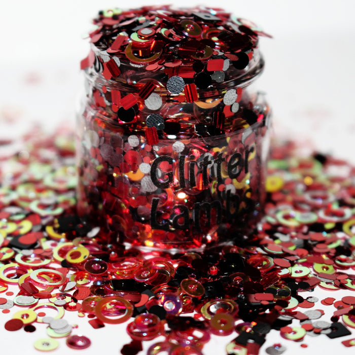Freddy Bear Halloween glitter. Great for crafts, nails, resin, body, hair, tumbler cups, acrylic pouring, diy projects, etc by GlitterLambs.com