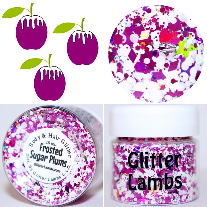 Frosted Sugar Plums Christmas Body Glitter by GlitterLambs.com