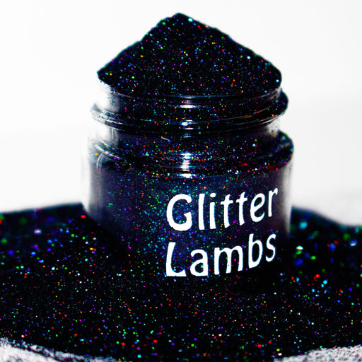 Galaxy Glitter. Size is .004. Great for crafts, nails, resin, etc by GlitterLambs.com Black Holographic Mix