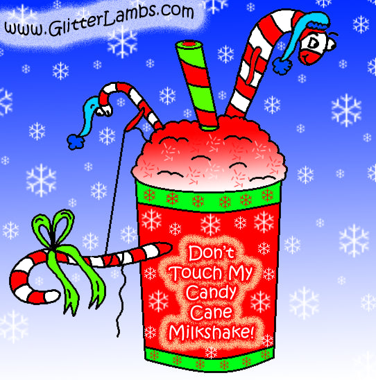 Don't Touch My Candy Cane Milkshake | Glitter Lambs Glitter Topper Nail Polish