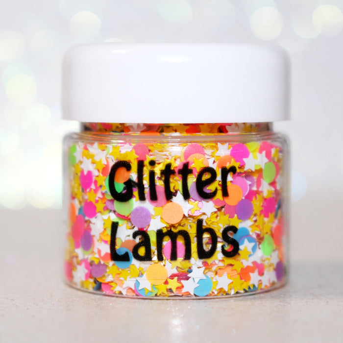 Rainbow Land Glitter by GlitterLambs.com | For body, nails, crafts, resin, etc