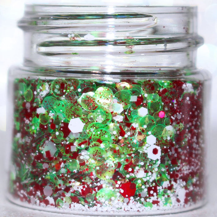 "Glitter Lambs ""Jingle Bell Rock"" Chunky Body Glitter by GlitterLambs.com Christmas Chunky Body Glitter"