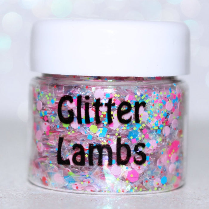 "Glitter Lambs ""Cupcakes And Ice Cream"" Chunky Festival Body Glitter #glitter #glitterlambs #chunkyglitter #bodyglitter #festivalglitter #hairglitter #faceglitter #skinglitter"
