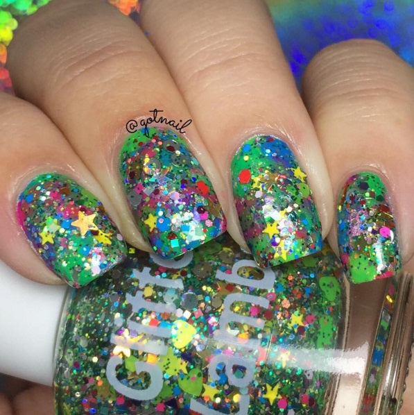 Rockin Around The Christmas Tree Christmas Glitter Topper Nail Polish