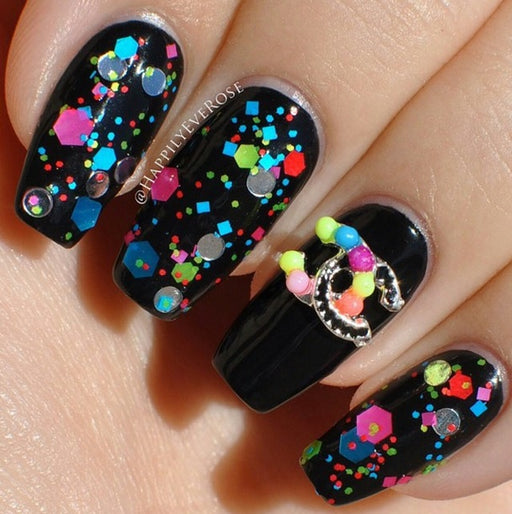 "Glitter Lambs ""Circus Clown In Town"" glitter topper nail polish #nails #nailart #naildesigns #glitterlambs #nailpolish #polish #glitternailpolish #glittertopper"