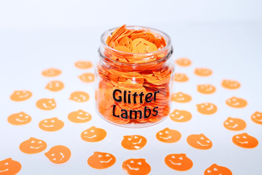 Headless Horseman glitter. Halloween pumpkin glitter is great for crafts, resin, etc. by GlitterLambs.com