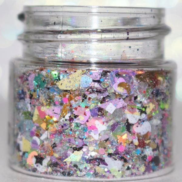 "Glitter Lambs ""Cheshire Cat Party"" Body Glitter Pot GlitterLambs.com Chunky Body Glitter Cheshire Cat"