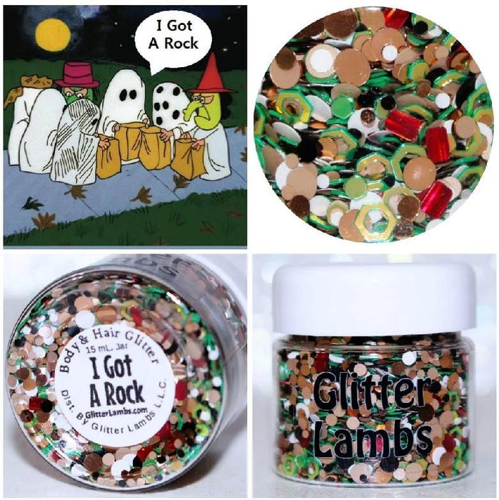 "Glitter Lambs ""I Got A Rock"" Halloween Glitter by GlitterLambs.com 