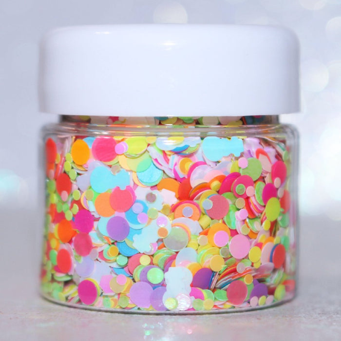 Ice Cream Snowman Glitter. Great for crafts, resin, body, hair, etc by GlitterLambs.com