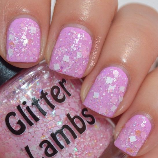 "Glitter Lambs ""It's So Fluffy"" Glitter topper nail polish #nails #glitternails #nailpolish #glitterpolish #glitternalispolish #glitterlambs"