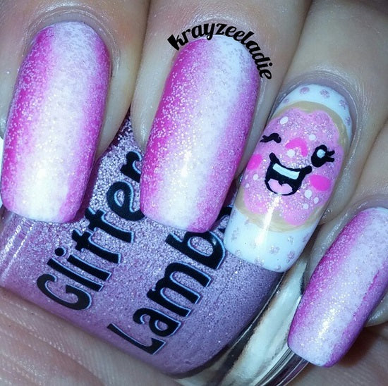 "Glitter Lambs ""Pink Christmas Sugar Cookie"" Glitter Topper Nail Polish by GlitterLambs.com #nails #glitternails #christmasnails #glitternailpolish #nailpolish #glitterlambs #pinknails"