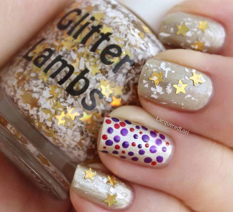 Angel Cookies Glitter Lambs Glitter Topper Nail Polish by GlitterLambs.com #nails #christmasnails #glitterlambsnailpolish #nailpolish #glitternailpolish