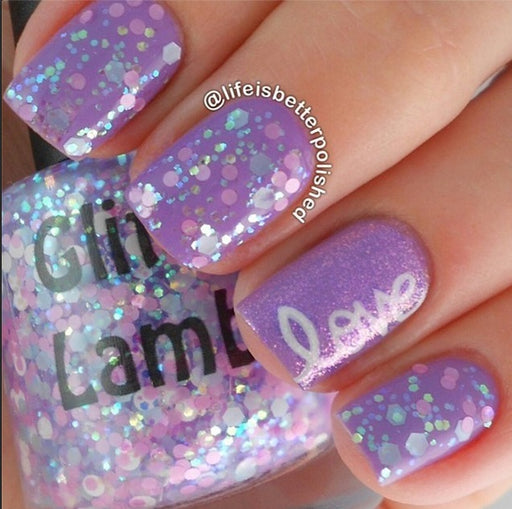 Kawaii Bake Sale | Glitter Lambs Glitter Topper Nail Polish