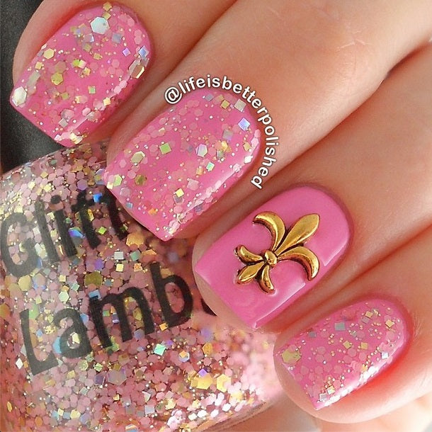"Glitter Lambs ""Tea Party"" Glitter Topper Nail Polish #nails #glitternailpolish #nailpolish #glitterlambs #glitternails #glitterpolish"