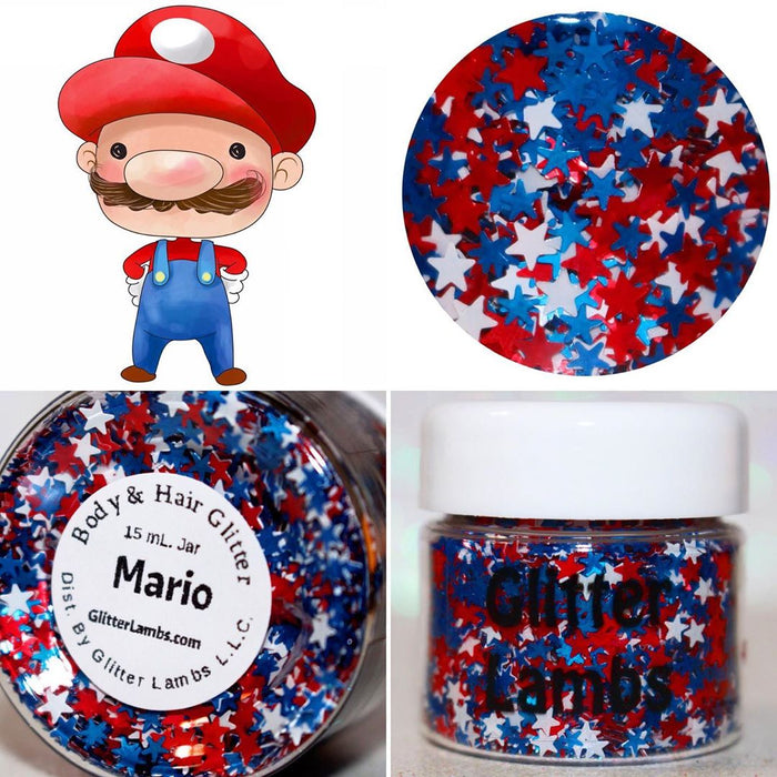 "Glitter Lambs ""Mario"" Body Glitter by GlitterLambs.com"