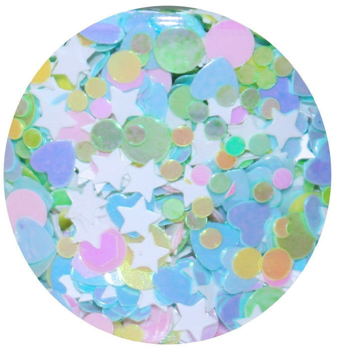 "Glitter Lambs ""Marshmallow Lucky Charms"" Body Glitter by GlitterLambs.com #glitter #bodyglitter #glitterlambs"