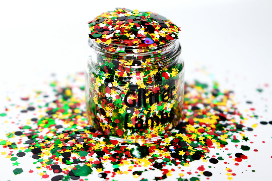 Martian Glitter. Great for crafts, nails, resin, tumbler cups, acrylic pouring, diy projects, body, hair, etc. Jar is 15mL. by GlitterLambs.com