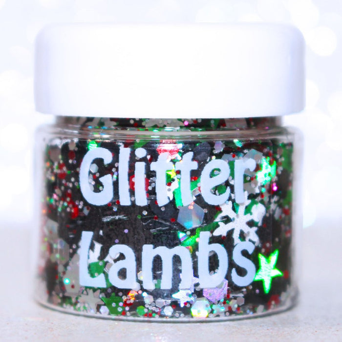 "Glitter Lambs ""Mickey's Christmas Carols"" Body & Hair Glitter by GlitterLambs.com #glitter #christmas #christmasglitter #mickeymouse #glitterlambs #bodyglitter"