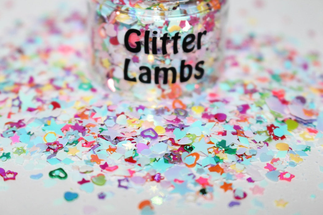Milkshake Shop Glitter | For Body, Nails, Crafts, Resin by GlitterLambs.com