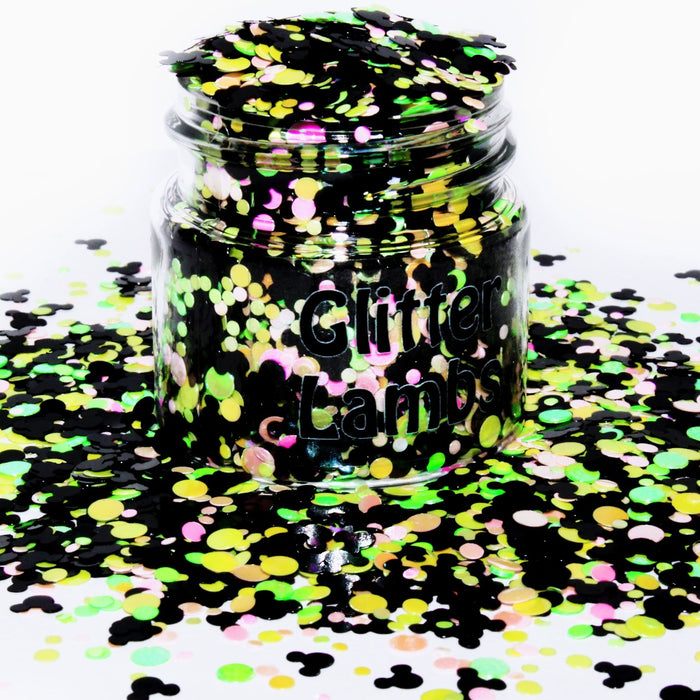 Mouse Cartoon Glitter. Great for crafts, nails, resin, etc. by GlitterLambs.com