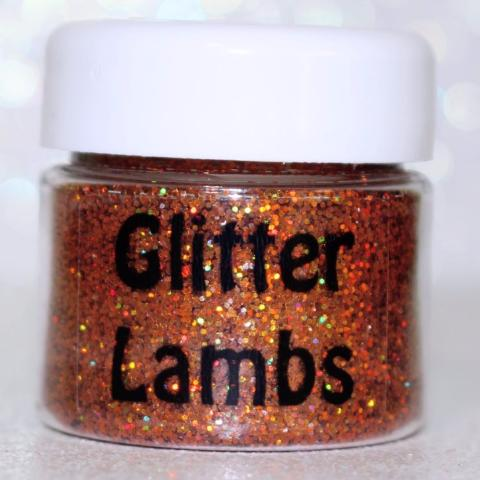 "Glitter Lambs ""My Unicorn Carved Me A Pumpkin"" Body Art Glitter GlitterLambs.com Orange Fall Holographic Body Art Glitter Makeup Cosmetic Face Hair Glitter Roots Festival Unicorn Glitter"