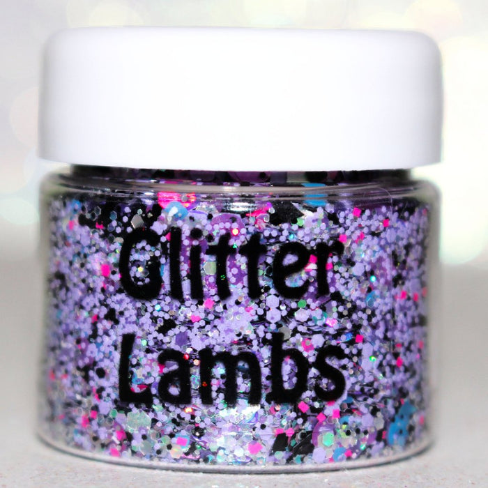 "Glitter Lambs ""My Unicorn Is Friends With The Boogie Man"" Glitter Pot For Body, Face, Hair or Nails #glitter #unicornglitter #bodyglitter #nailglitter #hairglitter"