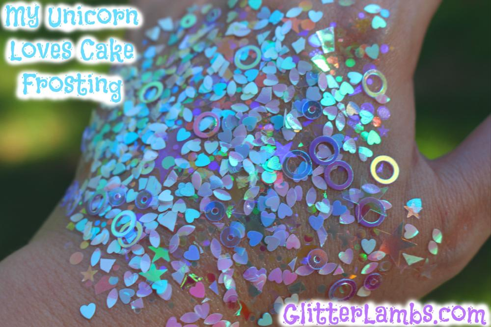 My Unicorn Loves Cake Frosting Body Glitter Hair Glitter Face Glitter Rave Festival Body Glitter GlitterLambs.com