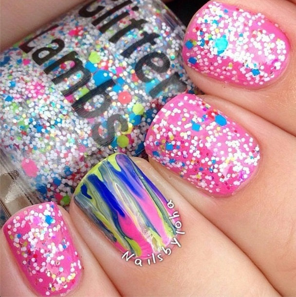 Taste The Rainbow | Glitter Lambs Glitter Topper Nail Polish