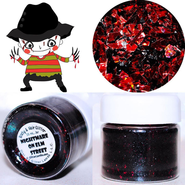 Nightmare On Elm Street Halloween Glitter by GlitterLambs.com For Body, Nails, Crafts, Resin, Jewelry Making, etc