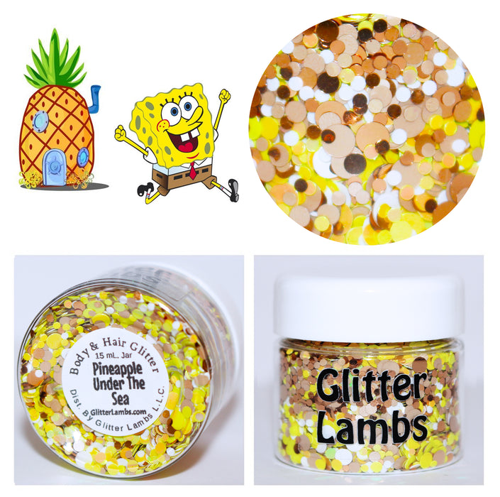 Pineapple Under The Sea Glitter. Great for crafts, nails, resin, body, jewelry making, etc by GlitterLambs.com