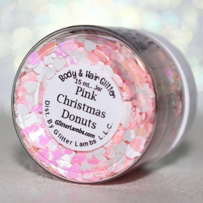 "Glitter Lambs ""Pink Christmas Donuts"" 