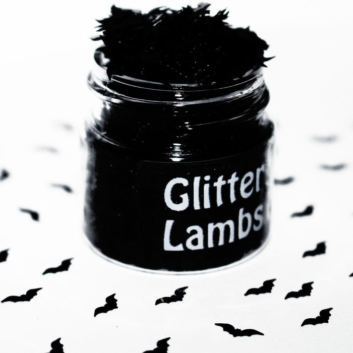 Pouty Bat Face Glitter. Great for crafts, resin, body, hair, etc. by GlitterLambs.com