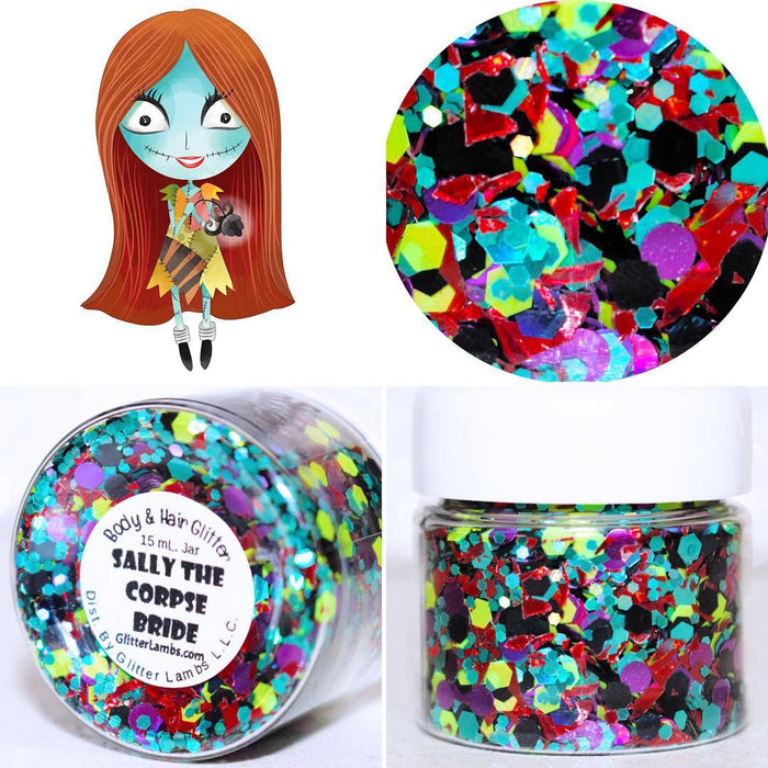 Sally The Corpse Bride Halloween Body Glitter by GlitterLambs.com The Nightmare Before Christmas #glitter #bodyglitter #thenightmarebeforechristmas #sally