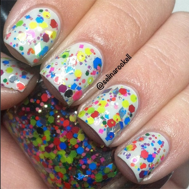 "Glitter Lambs ""Candy Land"" Glitter Topper Nail Polish by GlitterLambs.com #nails #glitternailpolish #nailpolish #glitterlambs"