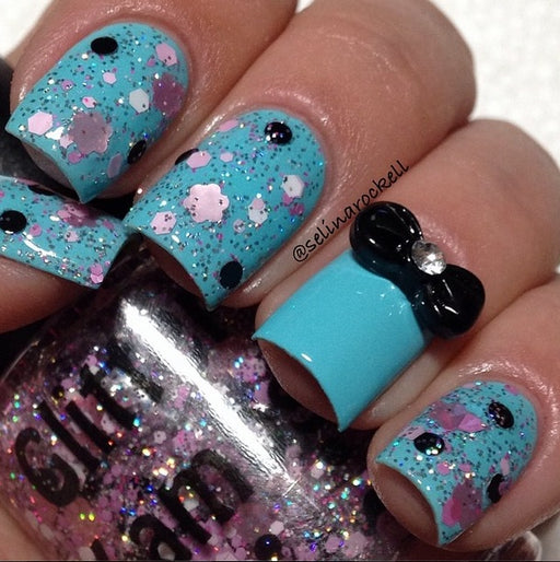 "Glitter Lambs ""Poodles In Paris"" glitter topper nail polish #nails #nailart #naildesigns #glitternals #glitternailpolish #nailpolish #glitterlambs"
