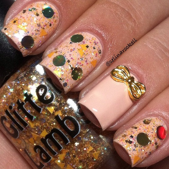 "Glitter Lambs ""Pumpkin Pie"" glitter topper nail polish #nails #glitternails #nailart #naildesigns #glitterlambs #nailpolish #polish #glitternailpolish"