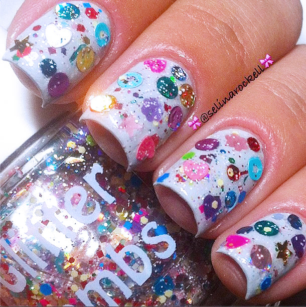 "Glitter Lambs ""Reindeer Games"" Glitter Topper Nail Polish #nails #nailpolish #glitternails #glitternailpolish #glitterlambs #nailart #naildesigns"