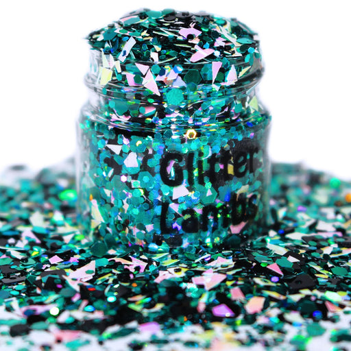 Sucked Into A Computer glitter. Great for crafts, nails, resin, body, hair, etc. 15mL Jar. by GlitterLambs.com