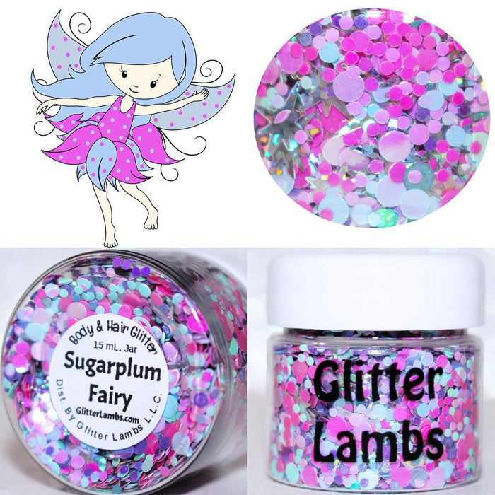 "Glitter Lambs ""Sugarplum Fairy"" Body & Hair Christmas Glitter by GlitterLambs.com Clipart by @prettygrafikdesign #sugarplumfairy #glitter #glitterlambs #christmas #christmasglitter #fairyglitter"