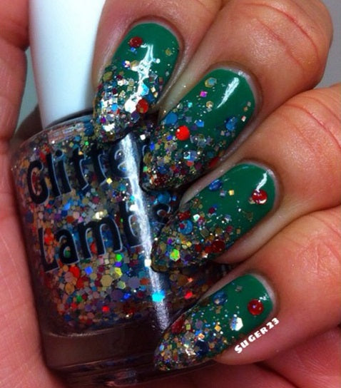 Christmas In The Desert | Glitter Lambs Glitter Topper Nail Polish