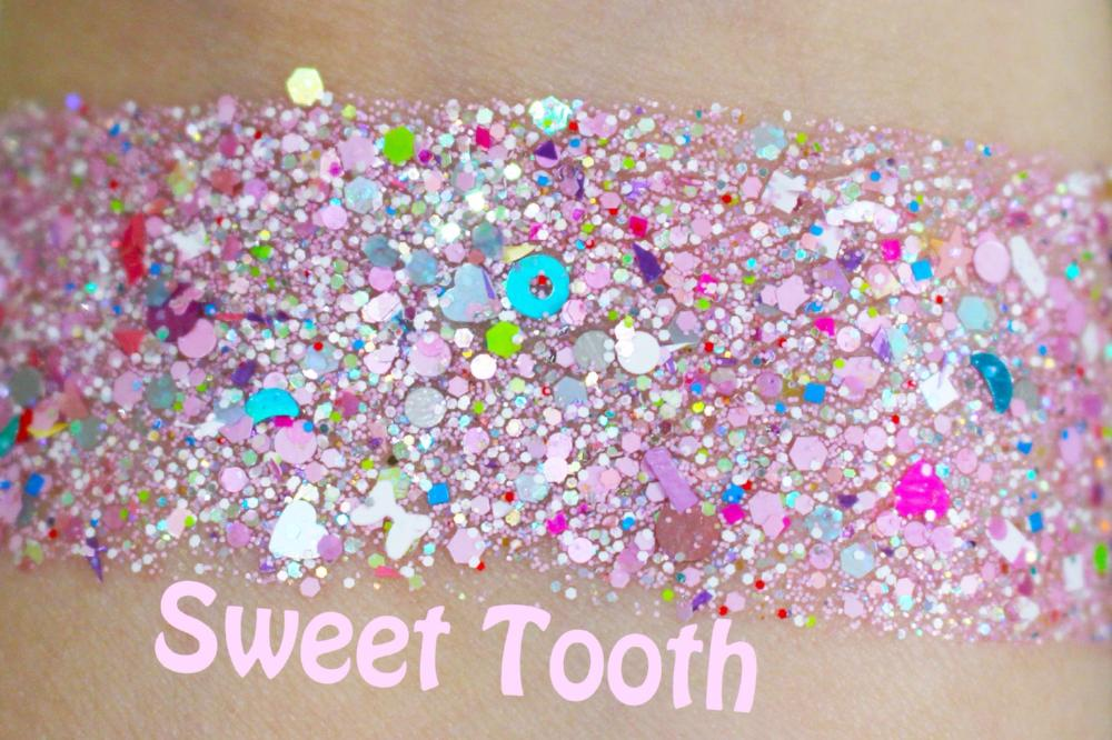 "Glitter Lambs ""Sweet Tooth"" Face, Body & Hair Glitter Pot GlitterLambs.com Pink Chunky Body Glitter Mix"