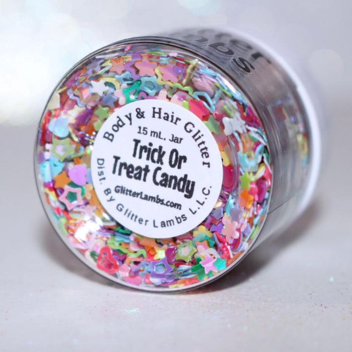 Trick Or Treat Candy Glitter. Great for nails, crafts, resin, etc.  by GlitterLambs.com