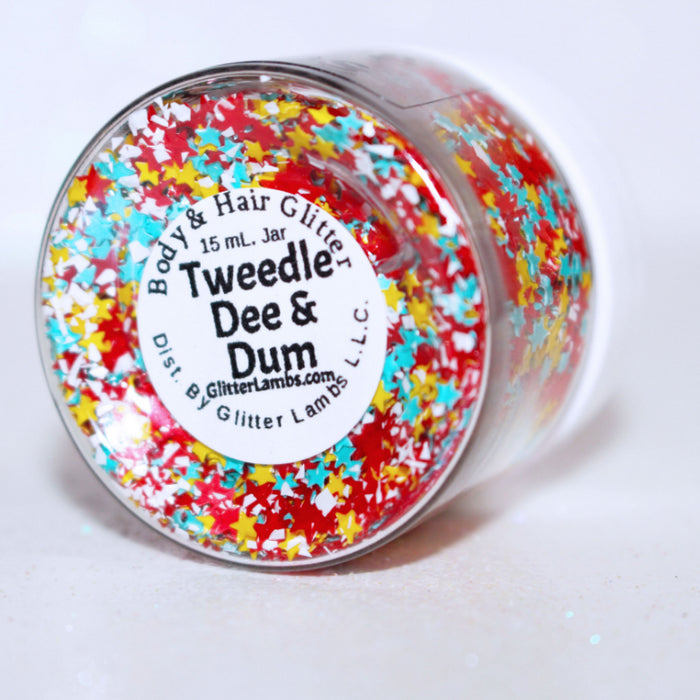 "Glitter Lambs ""Tweedle Dee & Dum"" Body Glitter by GlitterLambs.com 