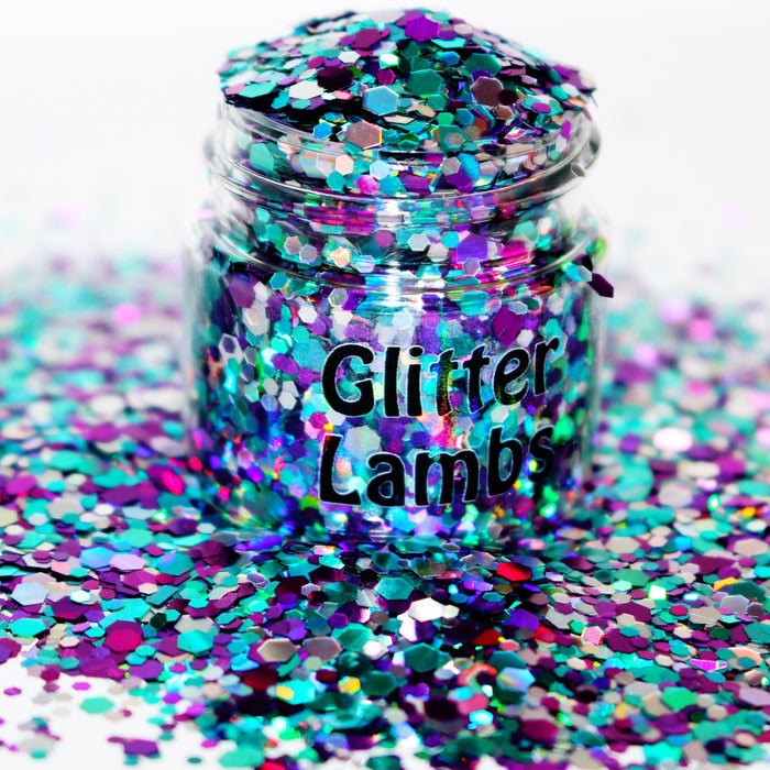 Under The Sea Glitter. Great for crafts, nails, resin, body, etc. by Glitter Lambs.com